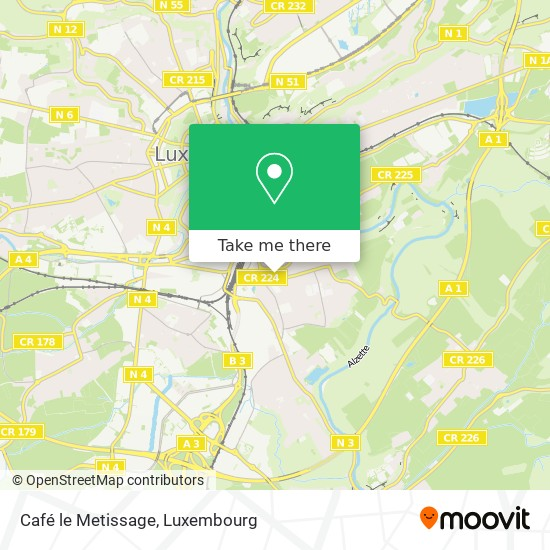 Café le Metissage, 9, Rue Irmine 1814 Luxembourg map