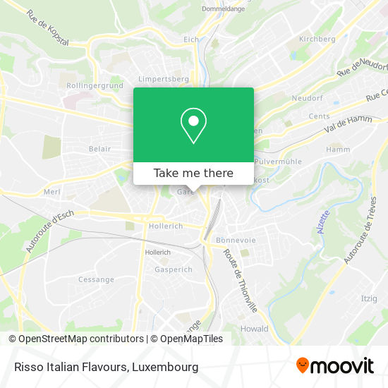 Risso Italian Flavours, 14, Rue d'Anvers 1130 Luxembourg map