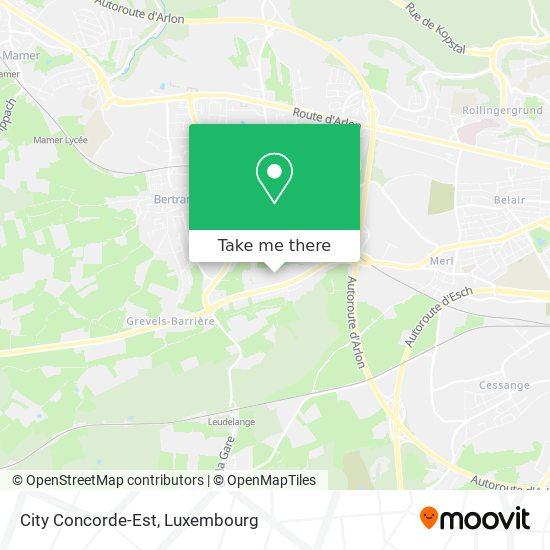 City Concorde-Est map