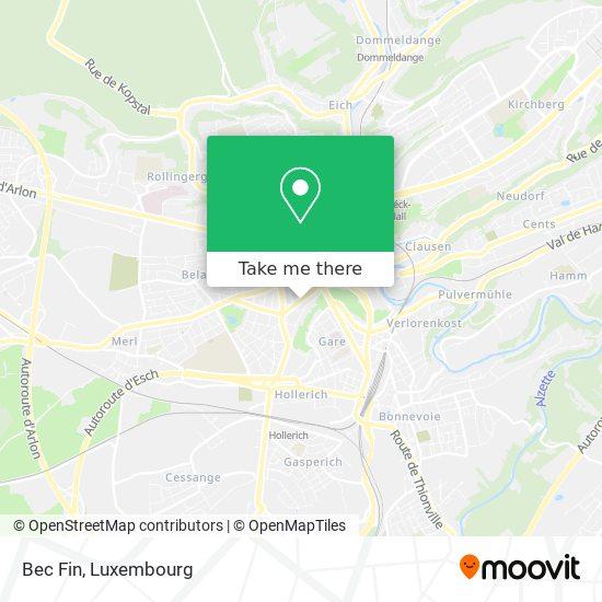Bec Fin, 5, Avenue Marie-Thérèse 2132 Luxembourg map