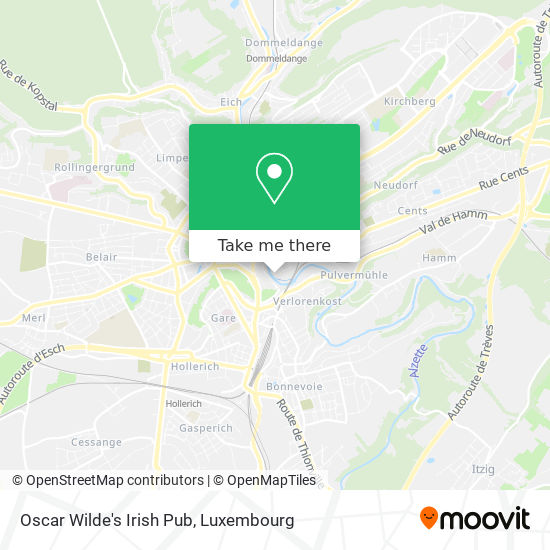 Oscar Wilde's Irish Pub map