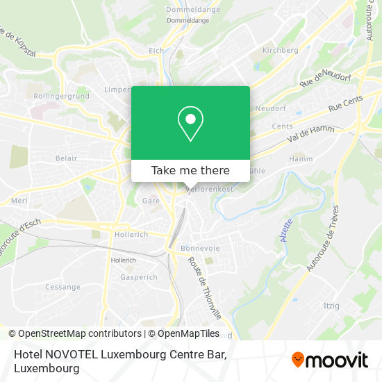 Hotel NOVOTEL Luxembourg Centre Bar map