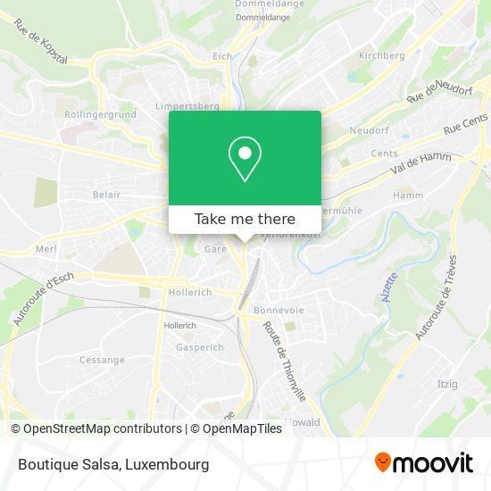 Boutique Salsa, 13, Avenue de la Gare 1611 Luxembourg map