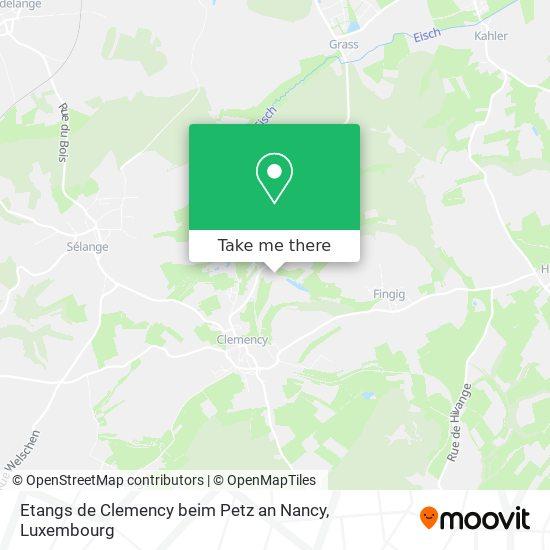 Etangs de Clemency beim Petz an Nancy, 62, Rue de Grass 4964 Käerjeng map