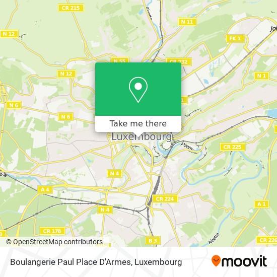 Boulangerie Paul Place D'Armes, 3, Avenue Monterey 2163 Luxembourg map
