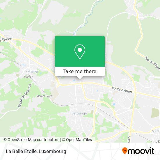 La Belle Étoile map