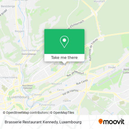 Brasserie Restaurant Kennedy, 35F, Avenue John F. Kennedy 1855 Luxembourg map
