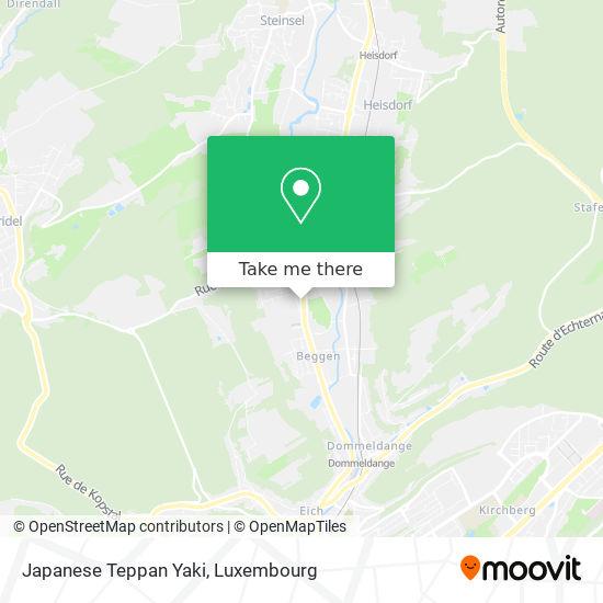 Japanese Teppan Yaki, 309, Rue de Beggen 1221 Luxembourg map