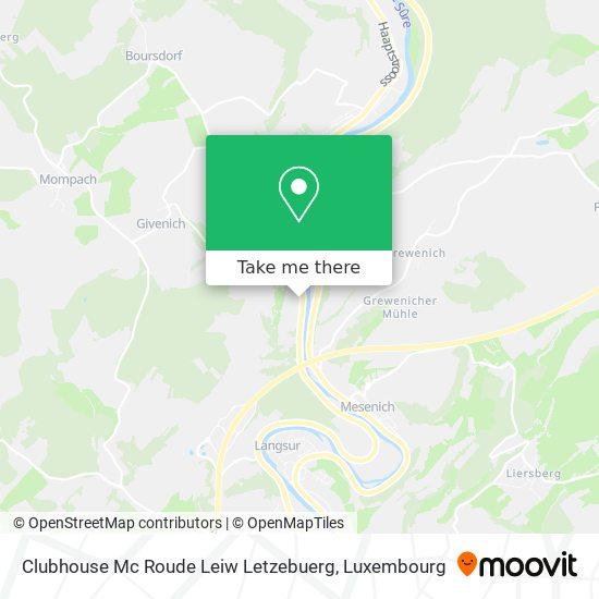 Clubhouse Mc Roude Leiw Letzebuerg map
