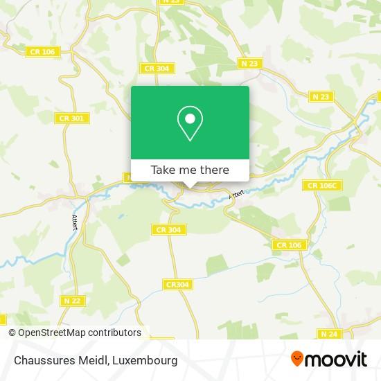 Chaussures Meidl, 55, Grand-Rue 8510 Redange map