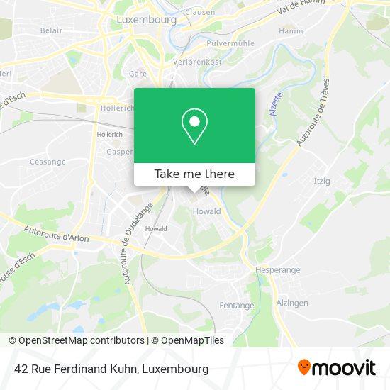 42 Rue Ferdinand Kuhn map
