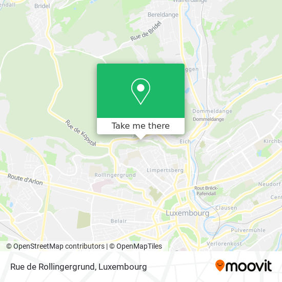 Rue de Rollingergrund map