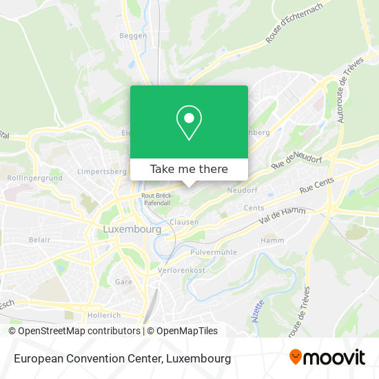 European Convention Center map