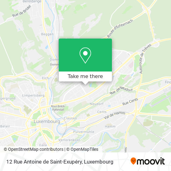 12 Rue Antoine de Saint-Exupéry map