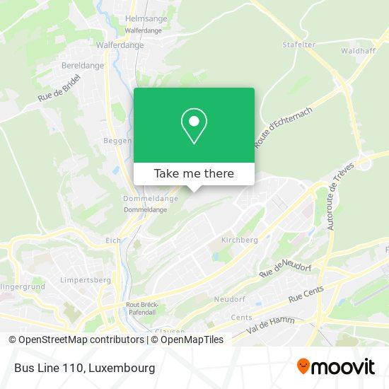 Bus Line 110 map