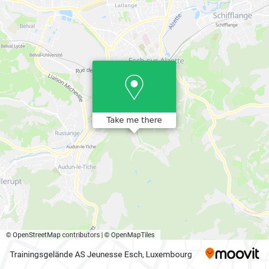 Trainingsgelände AS Jeunesse Esch map