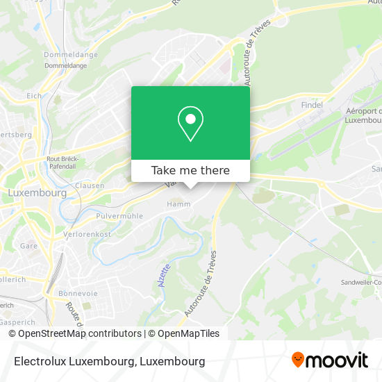 Electrolux Luxembourg map
