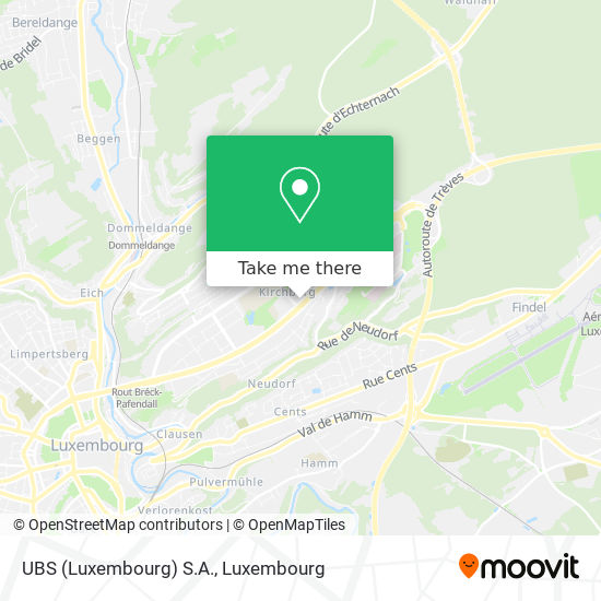 UBS (Luxembourg) S.A. map
