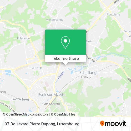 37 Boulevard Pierre Dupong map