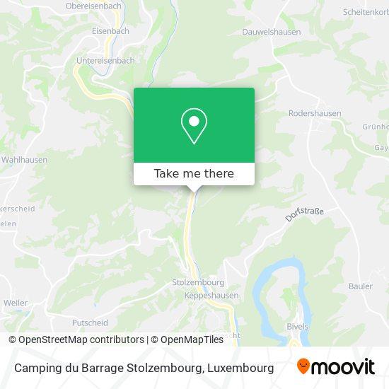 Camping du Barrage Stolzembourg map