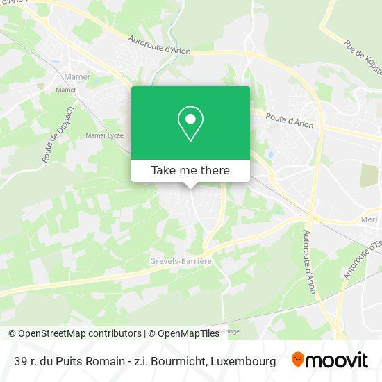 39 r. du Puits Romain - z.i. Bourmicht map