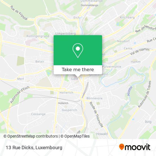 13 Rue Dicks map
