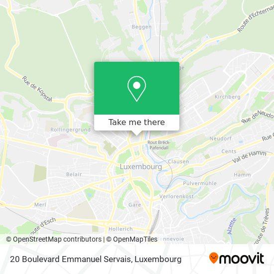 20 Boulevard Emmanuel Servais map
