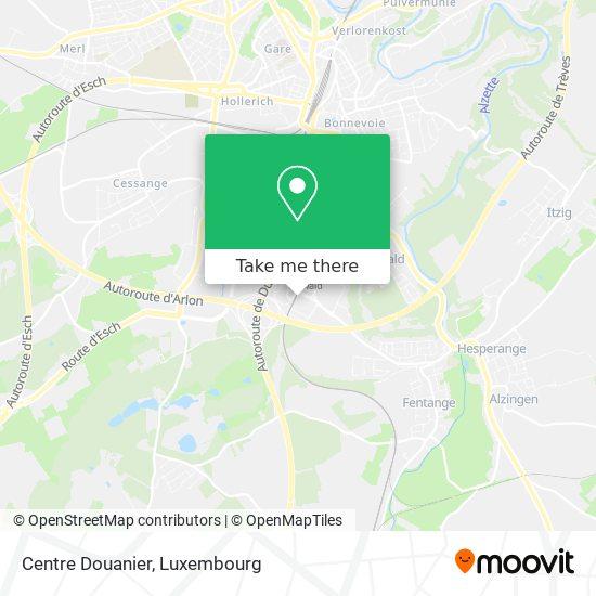 Centre Douanier map