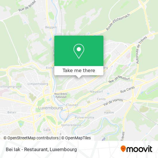 Bei Iak - Restaurant map