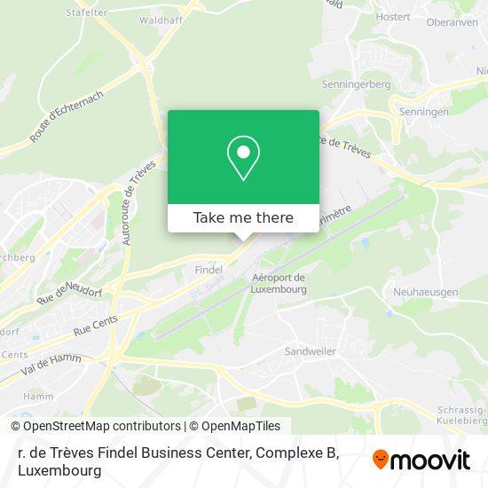r. de Trèves Findel Business Center, Complexe B map