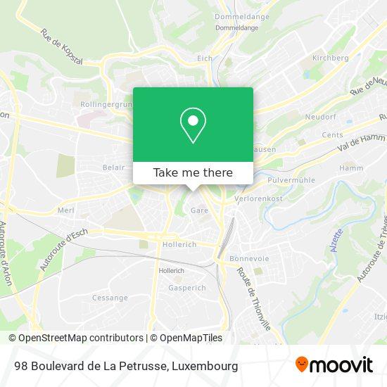 98 Boulevard de La Petrusse map