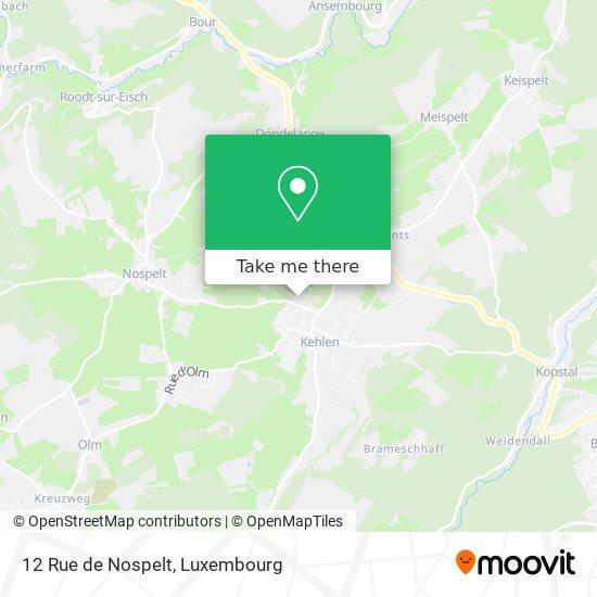 12 Rue de Nospelt Karte
