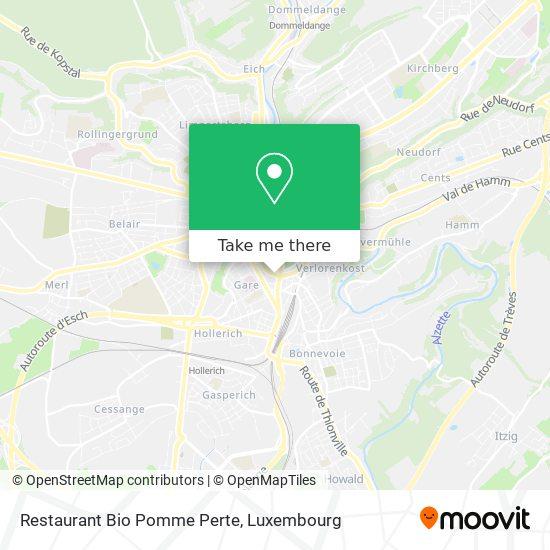 Restaurant Bio Pomme Perte map