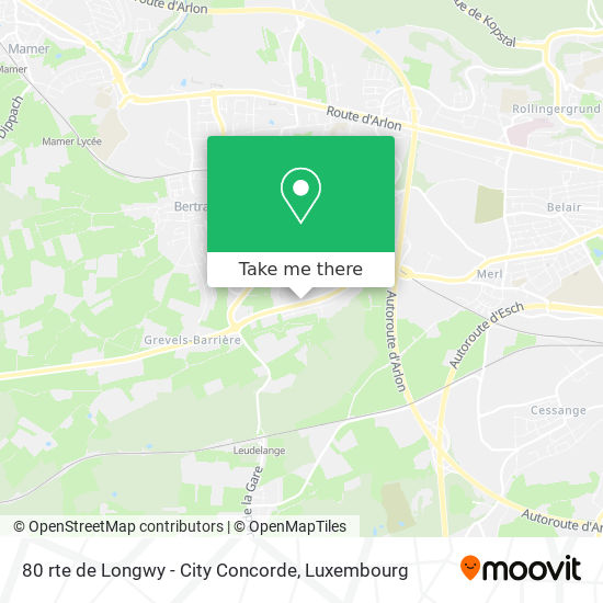 80 rte de Longwy - City Concorde map
