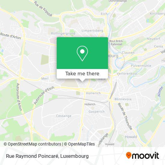 Rue Raymond Poincaré map