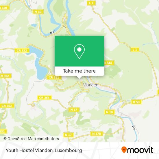 Youth Hostel Vianden map