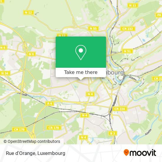 Rue d'Orange map