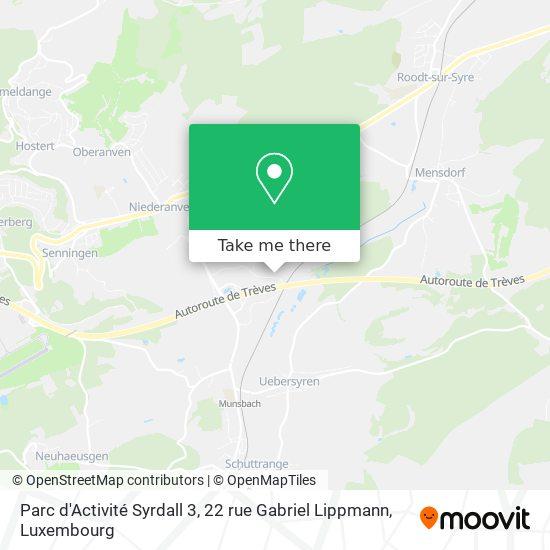 Parc d'Activité Syrdall 3, 22 rue Gabriel Lippmann map