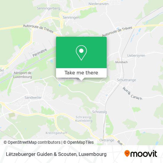 Lëtzebuerger Guiden & Scouten map