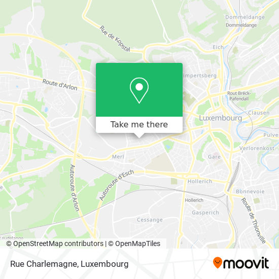 Rue Charlemagne map
