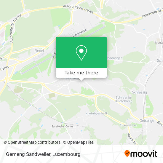 Gemeng Sandweiler map