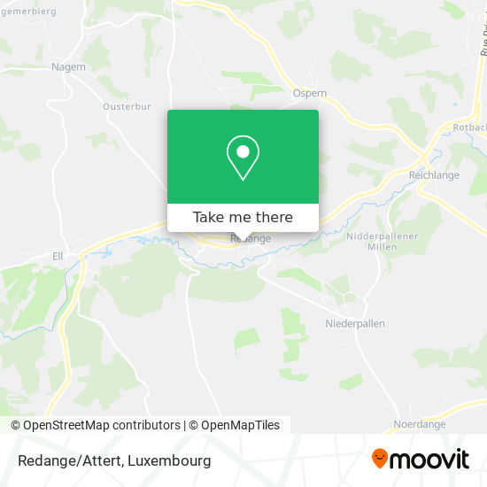 Redange/Attert map