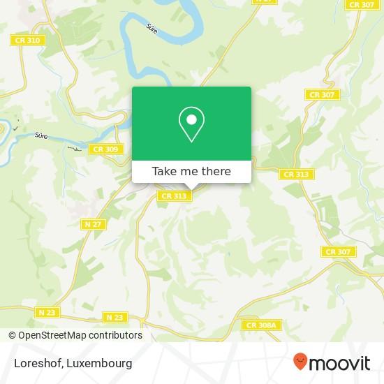 Loreshof mapa