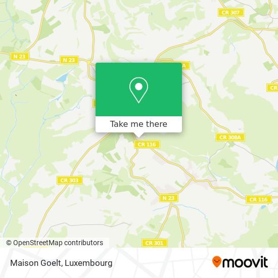 Maison Goelt mapa