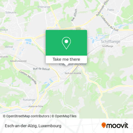 Esch-an-der-Alzig map