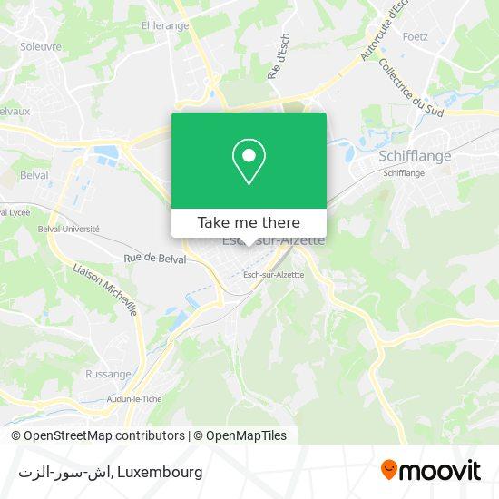 اش-سور-الزت map