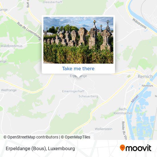 Erpeldange (Bous) map