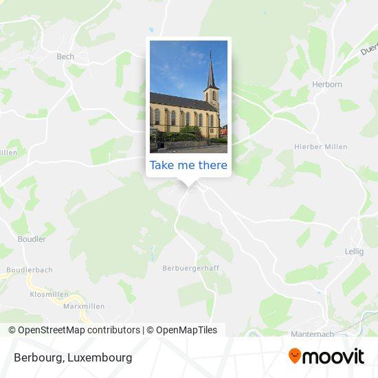 Berbourg map