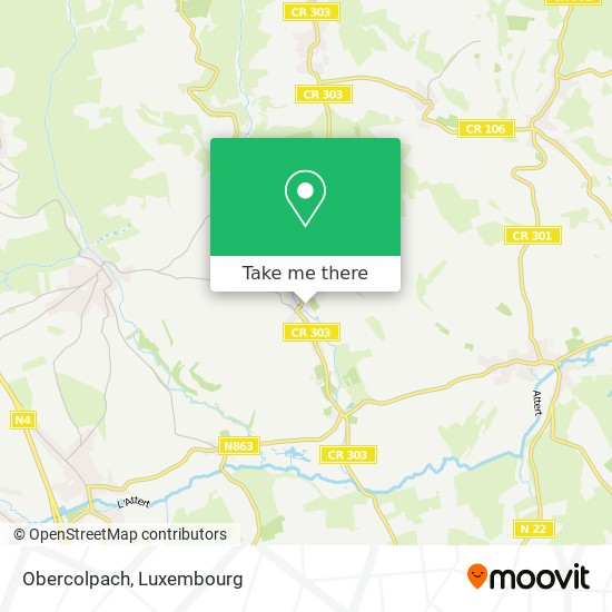 Obercolpach map