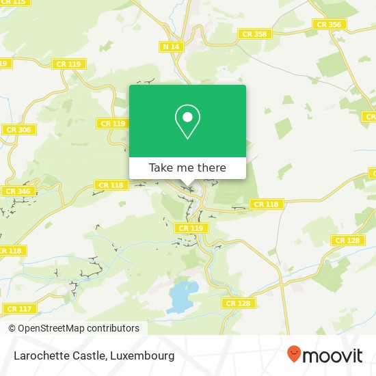 Larochette Castle map